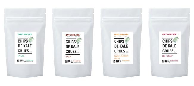 Chips de kale Happy Crulture acheter